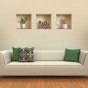 3D samolepky na stenu Nisha Love Home