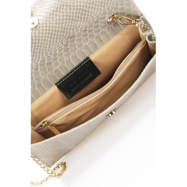 Sivá kožená listová kabelka Giorgio Costa Pythio