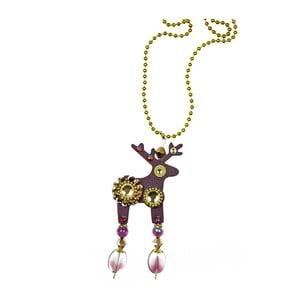 Fialový prívesok na retiazke Deers Baloonka