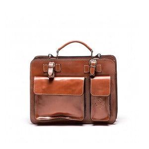 Kožená kabelka Isabella Rhea 305 Cognac