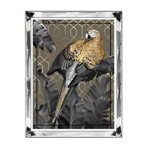 Nástenný obraz JohnsonStyle The Golden Parrot II, 66 x 86 cm