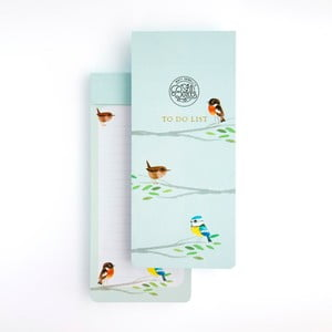 Svetlomodrý poznámkový blok GO Stationery Songbirds