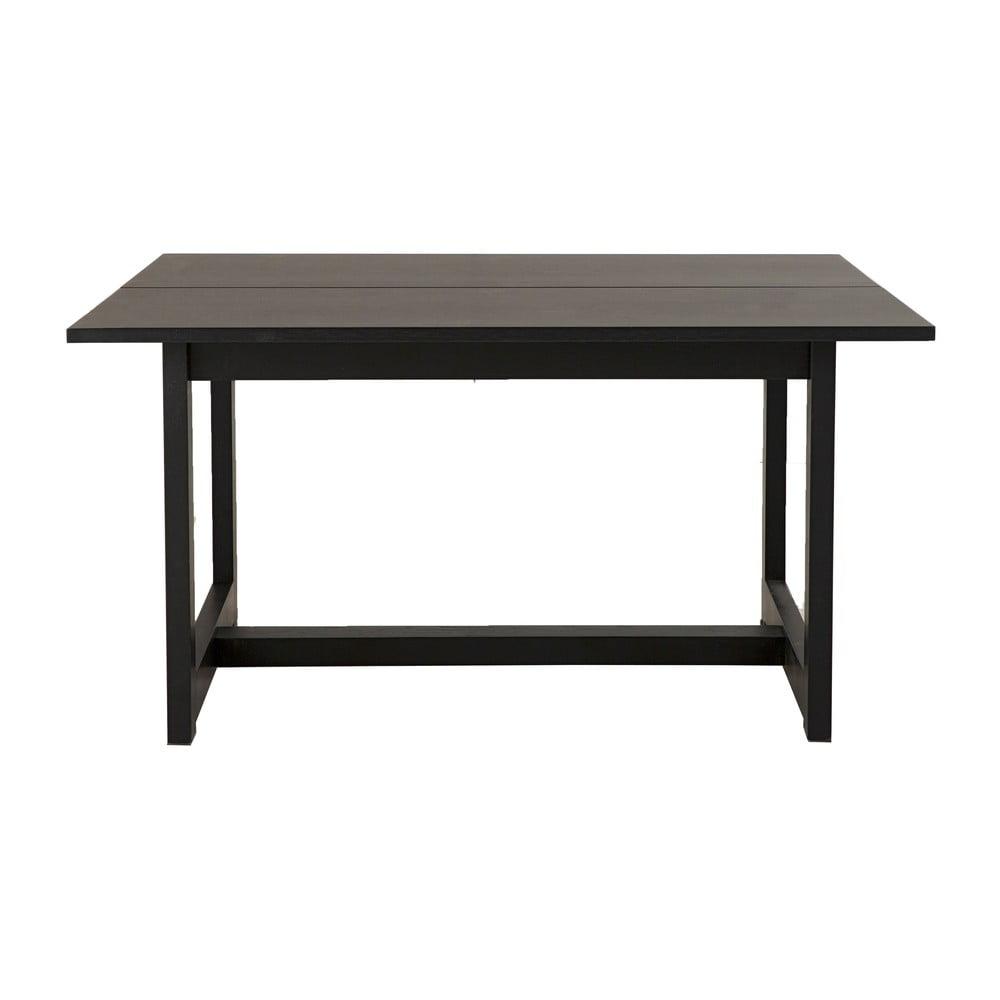 Čierny konferenčný stolík z dubového dreva Canett Binley, 120 x 75 cm