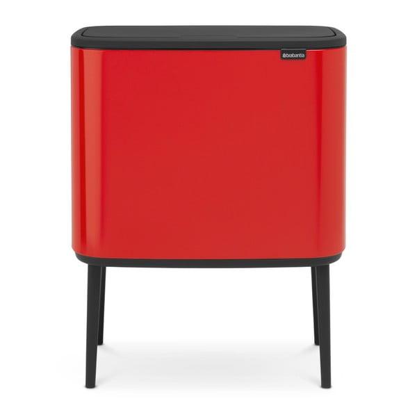 Červený odpadkový kôš Brabantia BO Touch Bin, 36l