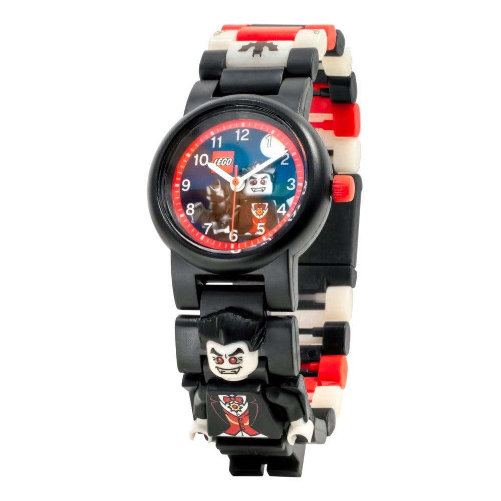 Čierne náramkové hodinky so skladacím remienkom a minifigúrkou LEGO® Vampire