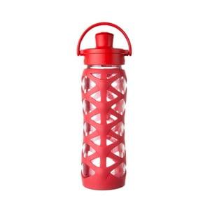 Sklenená fľaša na vodu so silikónovým chráničom Lifefactory Charged Activ, 650 ml