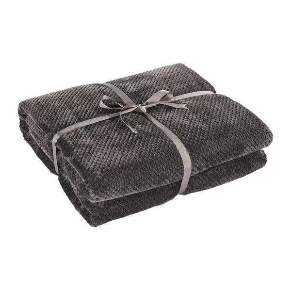 Tmavosivá deka z mikrovlákna DecoKing Henry, 200×150cm
