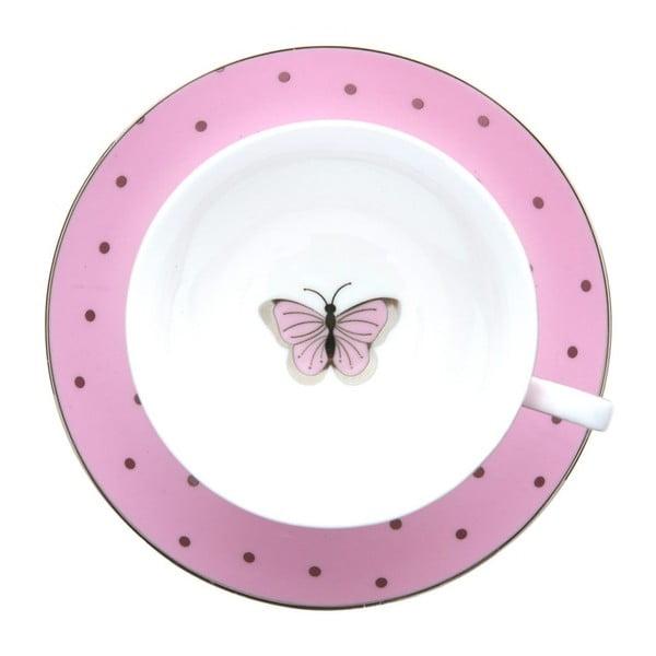 Ružový hrnček s tanierikom Bombay Duck Miss Darcy