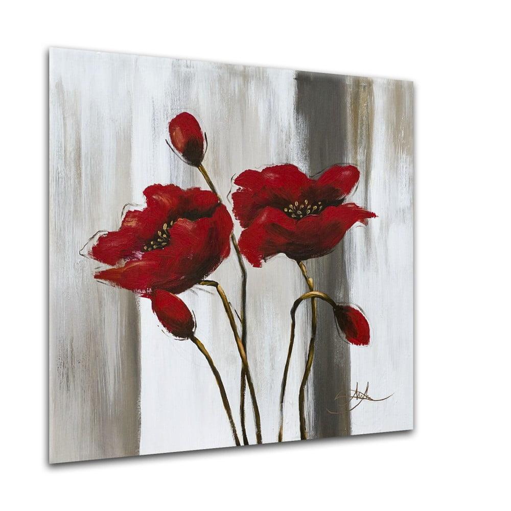 Obraz Styler Glasspik Poppy Flower, 20 × 20 cm