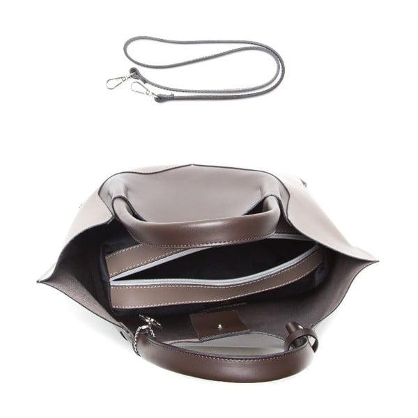 Kožená kabelka Anna Luchini 386 Fango