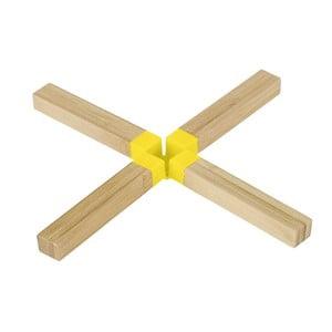 Bambusová podložka pod hrniec Cross Yellow