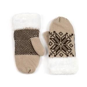 Krémové rukavice Lola so vzorom
