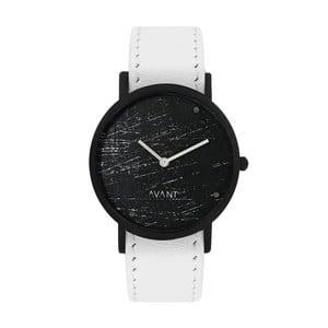 Čierne unisex hodinky s bielym remienkom South Lane Stockholm Avant Raw