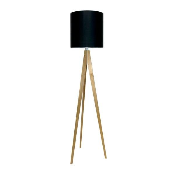 Čierna stojacia lampa 4room Artist, breza, 158 cm