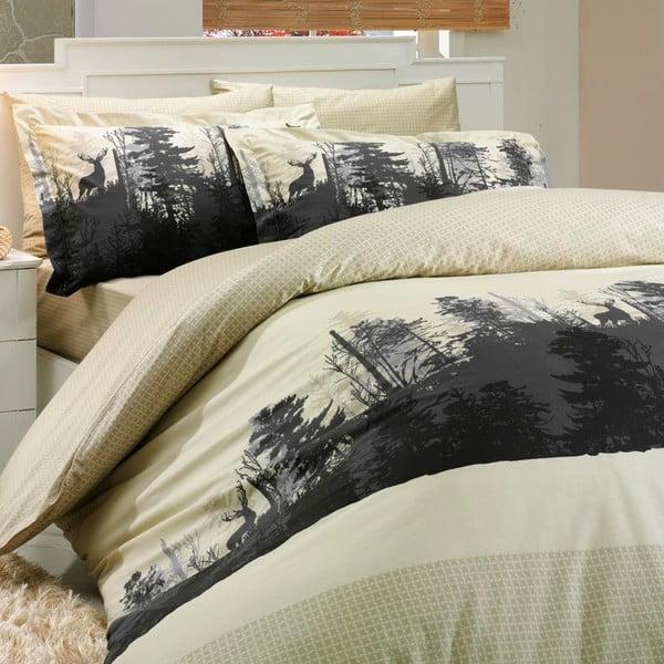 Obliečky s plachtou Tierra Beige, 200x220 cm