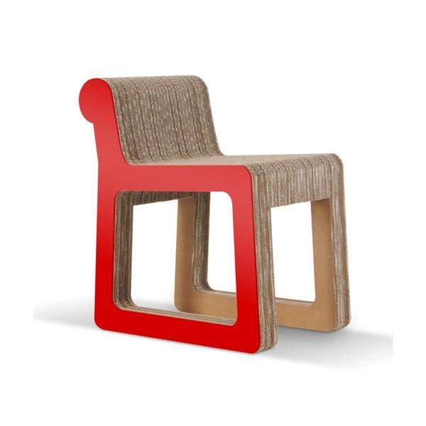 Kartónová stolička Knob Red