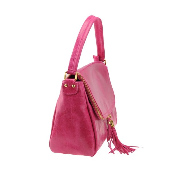 Kožená kabelka Diadema, ružová