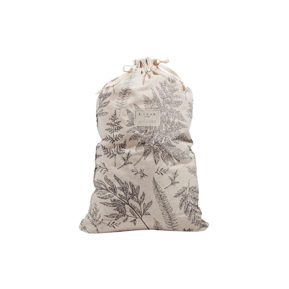 Látkový vak na bielizeň s prímesou ľanu Linen Couture Bag Countryside, výška 75 cm
