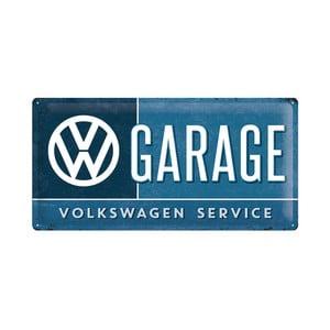 Plechová ceduľa VW Garage, 25x50 cm