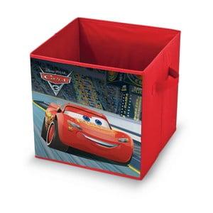 Červený úložný box na hračky Domopak Disney Cars, dĺžka 32 cm
