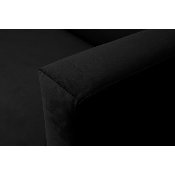 Čierna dvojmiestna pohovka Windsor & Co Sofas Neptune