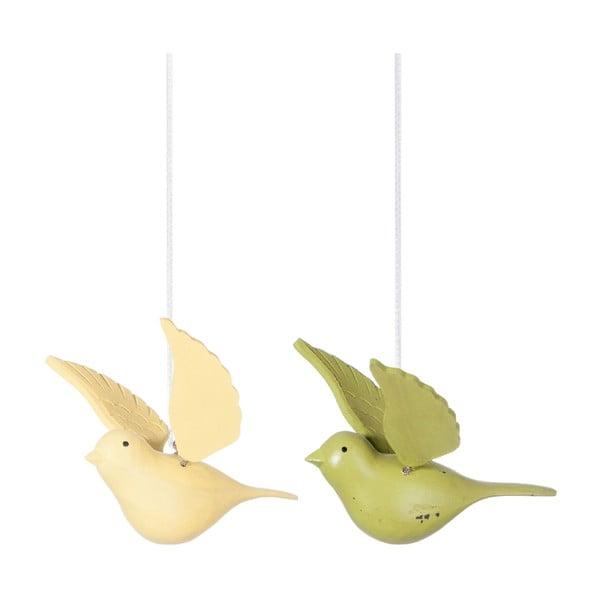 Sada 2 závesných dekorácií Bird Hang