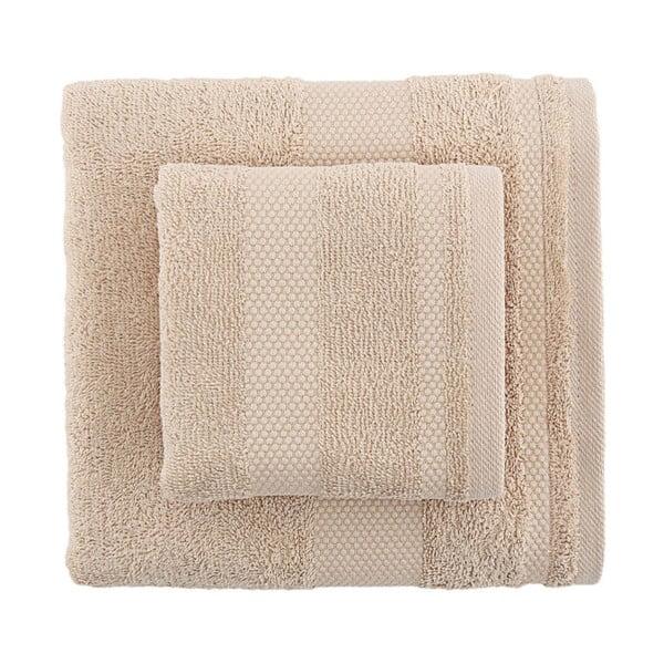 Sada 2 béžových uterákov Clio
