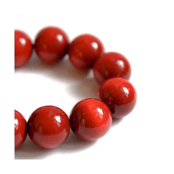 Červený drevený náramok ko–ra–leBubbles