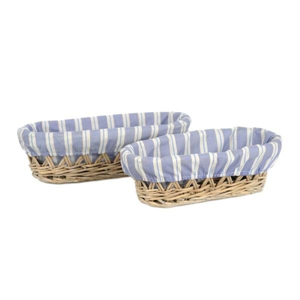 Sada 2 ks košíkov Bread Willow, 30x14x9 cm