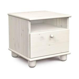 Biely nočný stolík z borovicového dreva Faktum Tomi