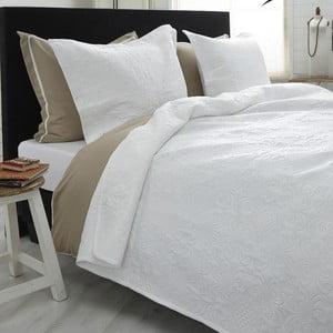 Biely pléd cez posteľ Dreamhouse Clara 260x250cm