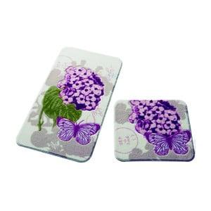 Sada 2 kúpeľňových predložiek Confetti Bathmats Pia Pink
