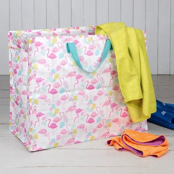 Veľká taška z recyklovaných plastových fliaš Rex London Flamingo Bay, 55×48cm