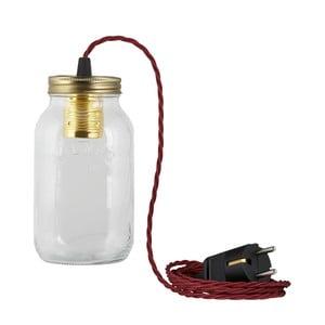 Svietidlo JamJar Lights, vínový zakrútený kábel