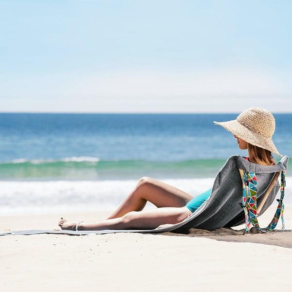 Skladacie plážové lehátko a osuška v jednom Sun Seat Basalt Geo