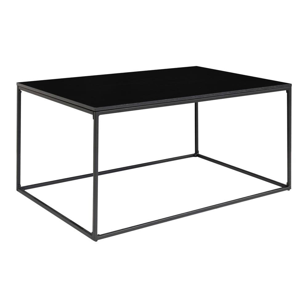 Čierny konferenčný stolík s kovovým rámom House Nordic Vita, 90 x 60 cm