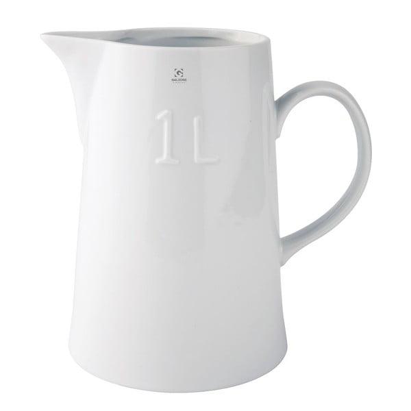 Džbán na mlieko, biely, 18 cm