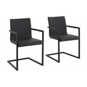 Sada 2 sivých jedálenských  stoličiek s opierkami Støraa Sandra