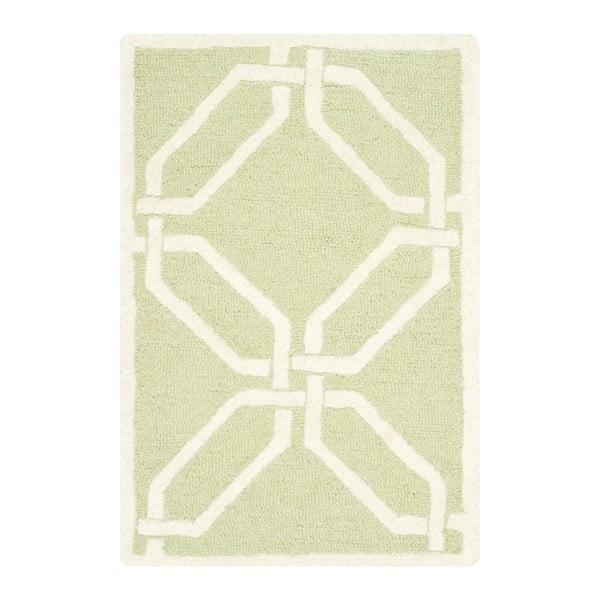 Ručne vyšívaný koberec Safavieh Mollie Pistacio, 91 x 152 cm