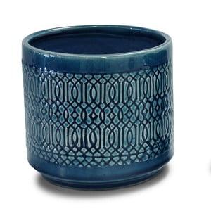 Modrý svietnik Interiörhuset Pot Stina, výška 14 cm