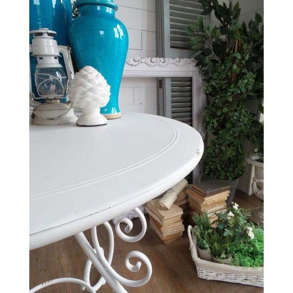 Kovový stolík Old White