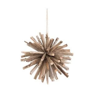 Závesná drevená dekorácia J-Line Ball, ⌀35 cm