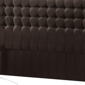 Hnedé čelo postele Novative Sylphyde, 160×118cm
