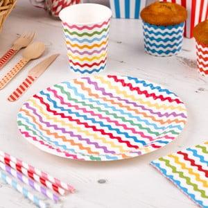 Sada 8 papierových tanierov Neviti Carnival Waves