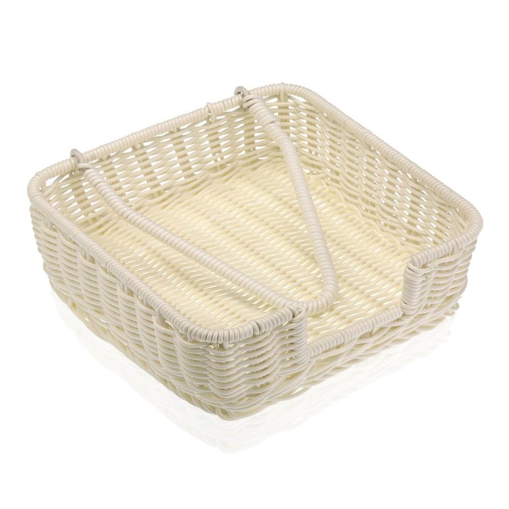 Biely košík na papierové obrúsky Versa Wonda, 20 × 20 cm