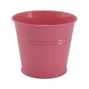 Kovový kvetináč Kovotvar, 10x14 cm, ružový