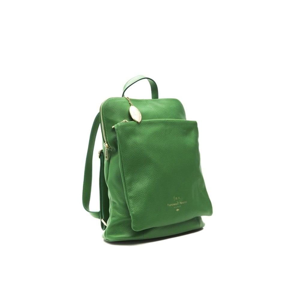 Zelený kožený dámsky batoh f.e.v. by Francesca E. Versace Ramona cfb335f08d