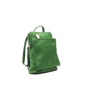 Zelený kožený dámsky batoh f.e.v. by Francesca E. Versace Ramona
