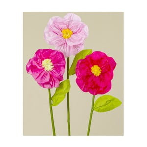 Sada 3 dekoratívnych papierových kvetín Boltze Rosalie