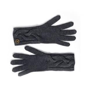 Čierne kašmírové rukavice Bel cashmere Lela